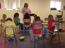 Children learning about God